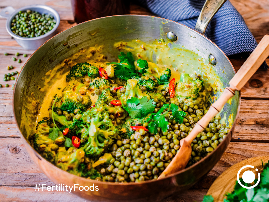 Spicy Broccoli and Mung Bean Curry